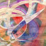 Графические абстрактные световые волны Стоковое Изображение