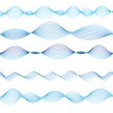 Графические волны сини Стоковые Изображения RF