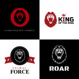 Графические дизайны логотипа льва Стоковое Изображение