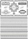 Графические рамка, знамена и граница для страниц и документов дизайна Стоковая Фотография RF