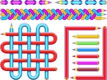 Графические символы созданные от карандашей - 1 Стоковая Фотография