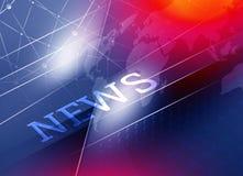 Графические соединение цифров и предпосылка новостей Стоковая Фотография RF