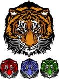 графический головной тигр талисмана логоса иллюстрация вектора