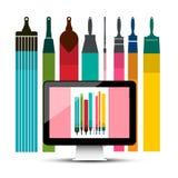 Графический дизайн компьютера - картина ПК вектора бесплатная иллюстрация