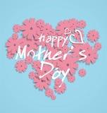 Графический дизайн ` s матери Дн-тематический в форме сердц иллюстрация вектора
