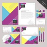 Графический дизайн абстрактного фирменного стиля вектора установленный Стоковые Фото