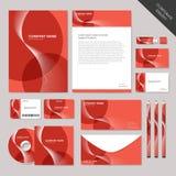 Графический дизайн абстрактного фирменного стиля вектора установленный Стоковая Фотография RF