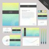 Графический дизайн абстрактного фирменного стиля вектора установленный Стоковые Изображения