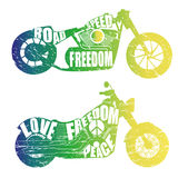 Графический дизайн мотоциклов Стоковые Изображения RF