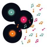 Графический дизайн музыки онлайн, иллюстрация вектора Стоковые Изображения RF
