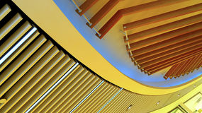 Графический дизайн приспособления потолочных освещений деревянный Стоковое Фото