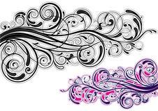 Графический дизайн свирли Стоковое Фото