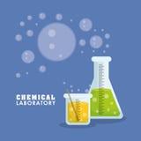 Графический дизайн химической лаборатории, иллюстрации вектора Стоковое фото RF