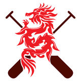 Графический дизайн шлюпки дракона Стоковые Фотографии RF