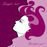 Графический портрет красивой девушки Стоковое Изображение