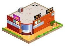 графический равновеликий мол Стоковое фото RF