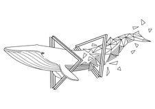 Графический синий кит бесплатная иллюстрация