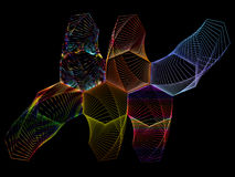 Графический состав дизайнов шнурка Стоковое фото RF