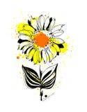 Графический солнцецвет Стоковая Фотография RF