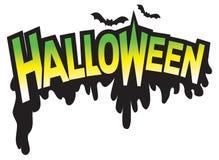 графический тип логоса halloween Стоковая Фотография RF
