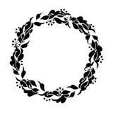 Графический флористический венок Стоковая Фотография RF