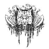 Графический черный рысь вектора Стоковое Изображение