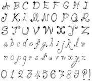 Графический шрифт и численные номера в стильном de Стоковые Изображения