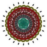 Графический multicolor орнамент на белой предпосылке Стоковое фото RF