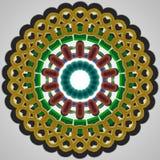 Графический multicolor орнамент Стоковое Фото
