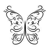 Графически сделанная по образцу декоративная бабочка иллюстрация вектора