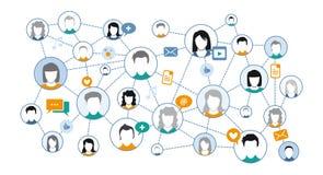 Графическое представление социальной сети средств массовой информации Стоковое фото RF