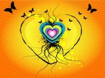 графическое сердце grunge Стоковая Фотография RF