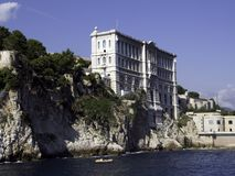 графическое oceano музея Монако Стоковые Изображения RF