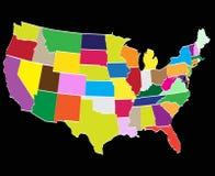 Графства америки стоковая фотография rf