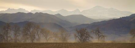 графство colorado валуна наслаивает панораму Стоковое Изображение RF