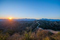 Графство Luanping, Великая Китайская Стена Хэбэя Jinshanling Стоковое Изображение RF