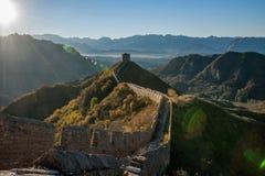 Графство Luanping, Великая Китайская Стена Хэбэя Jinshanling Стоковые Фото