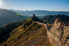 Графство Luanping, Великая Китайская Стена Хэбэя Jinshanling Стоковое Фото