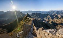 Графство Luanping, Великая Китайская Стена Хэбэя Jinshanling Стоковая Фотография RF