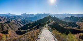 Графство Luanping, Великая Китайская Стена Хэбэя Jinshanling Стоковое Изображение