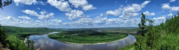 Графство Mohe, провинция Хэйлунцзяна, залив СМОКВЫ городка Китая Китая самый северный Стоковое Фото