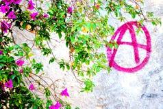 Граффити анархиста Стоковые Фото