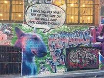 Граффити - бульдог Стоковое Изображение