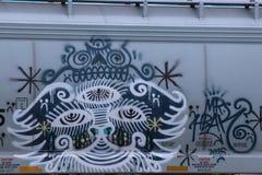 Граффити вагона Стоковые Фотографии RF