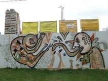 Граффити в Боготе Стоковые Фотографии RF