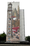 Граффити в городе angouleme, столице шутки Стоковое Фото