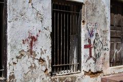 Граффити в каменном городке Стоковое Изображение