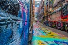 Граффити в майне Hosier Мельбурна Стоковая Фотография