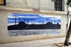 Граффити в Стамбуле Стоковая Фотография