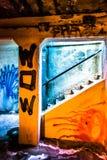 Граффити в темном пешеходном тоннеле, в Филадельфии, Pennsylva Стоковые Изображения RF